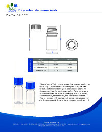 Data Sheet: Polycarbonate Serum Vials